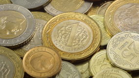 Turkish Lira macro coins stock video footage