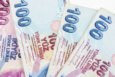 Turkish Lira. Pay paper mcro  bill buy Stock Photography