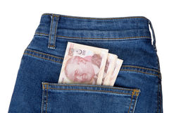 Turkish Lira on Pocket Stock Photography