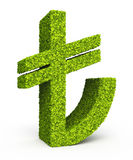 Turkish lira sign leaf formation Stock Images