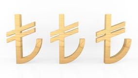 Turkish Lira Sign. TL Symbol Wooden. Turkish Money Symbol. Royalty Free Stock Image