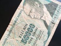 Turkish lira, Turkey paper bank note money Royalty Free Stock Photo