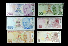 Turkish Liras Stock Photography