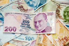 Turkish liras Royalty Free Stock Images