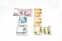 Turkish liras Royalty Free Stock Photos