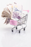 Turkish liras in trolley Stock Photos