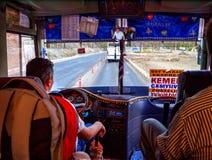 Turkish local bus in Kemer, Antalya Royalty Free Stock Photo