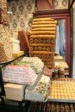 Turkish locum and baklava dessert Stock Photos