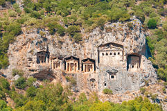 Turkish  Lycian tombs  - ancient necropolis Royalty Free Stock Photography