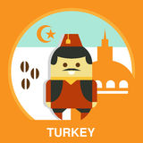 Turkish Man in National Costume Vector Royalty Free Stock Photography
