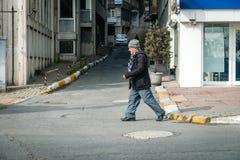 Turkish man on the street in ıstanbul, Turkey Royalty Free Stock Photography