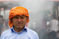 Turkish man with traditional headgear Royalty Free Stock Photos