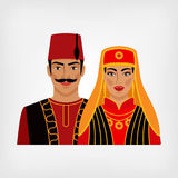 Turkish man and woman in national suit Royalty Free Stock Photography