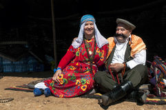 Turkish man and woman in traditional dress Royalty Free Stock Photography