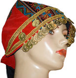A Turkish Mannequin face close-up displaying headscarf Stock Images