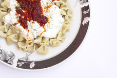 Turkish Manti Stock Photo