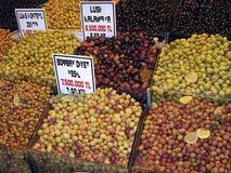 Turkish Market 2. Olives in a Turkish Market in Istanbul (Turkey Stock Photos