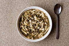 Turkish Mas Fasulyesi Corbasi / Mung Bean Soup. Royalty Free Stock Image