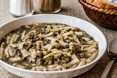 Turkish Mas Fasulyesi Corbasi / Mung Bean Soup. Royalty Free Stock Photos