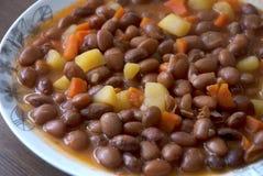 Turkish meals: Barbunya pilaki-Kidney beans Stock Images
