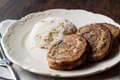Turkish Meat Roll Seftali Kebab Kebab with Rice royalty free stock photos