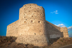 Turkish Medieval Fortess Of Aptera Royalty Free Stock Images