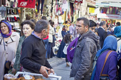 Turkish men arguing in a market in Istanbul, Turkey. Stock Photography