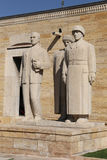 Turkish Men sculpture located at the entrance of the Road of Lio. Ns, Anitkabir, Ankara Royalty Free Stock Photos