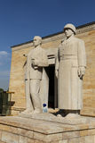 Turkish Men sculpture located at the entrance of the Road of Lio Royalty Free Stock Photos