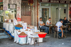 Turkish men in Zeyrek, Istanbul Royalty Free Stock Photos