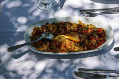 Turkish mezes appetizers Royalty Free Stock Image
