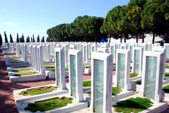 Turkish Military Cemetery Stock Photo