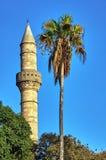 Turkish minaret on Kos island Royalty Free Stock Image