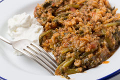 Turkish mince and spinach Royalty Free Stock Photos