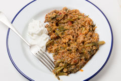 Turkish mince and spinach Royalty Free Stock Photo