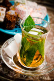 Turkish mint tea Royalty Free Stock Photo