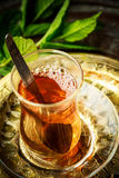 Turkish mint tea Stock Photo