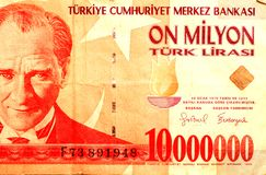 Turkish money  83 Stock Photography