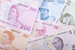 Turkish money - reverse side, a background. Turkish money - reverse side, a business background stock photography