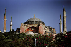 Turkish Mosk. Turkish mosque set against a blue sky royalty free stock image