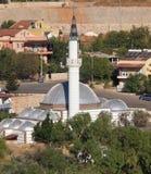 Turkish mosque. Modern mosque in kalkan, turkey stock images
