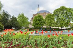 Turkish mosque Banya Bashi Mosque in the center of the city of Sofia, Bulgaria stock image