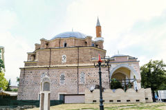 Turkish mosque Banya Bashi Mosque  in the center of the city of Sofia, Bulgaria Stock Photography