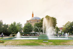 Turkish mosque Banya Bashi Mosque  in the center of the city of Sofia, Bulgaria Royalty Free Stock Photography