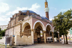 Turkish mosque Banya Bashi Mosque  in the center of the city of Sofia, Bulgaria Stock Images