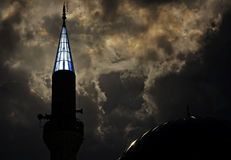 Turkish mosque at dusk. Stock Photo