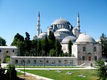 Turkish mosque with high minarets Stock Photography