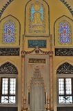 Turkish mosque interior design Royalty Free Stock Images