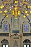 Turkish mosque interior design. The picture shows the colourful interior design of a Turkish mosque which was constructed in Tokyo Japan after the Turkish Royalty Free Stock Photo