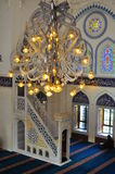Turkish mosque interior design. The picture shows the colourful interior design of a Turkish mosque which was constructed in Tokyo Japan after the Turkish Royalty Free Stock Images
